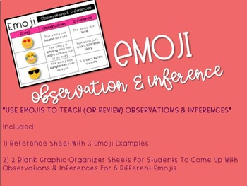 Emoji Observation & Inference {Freebie}
