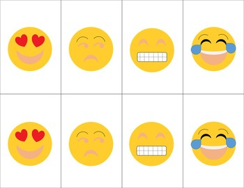 Emoji Open-Ended Card Game (Matching, Go Fish, Etc.)