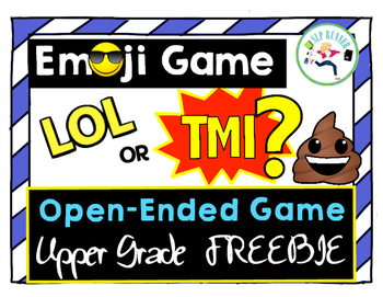 Emoji Open-Ended FREEBIE game!