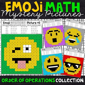 Emoji Order of Operations Mystery Pictures