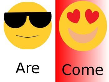 Emoji Out Saxon Sight Words