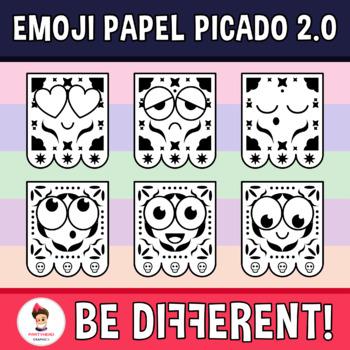 Emoji Papel Picado Faces Clipart (2.0)