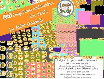Emoji Paper and Borders 12 x 12-Set One