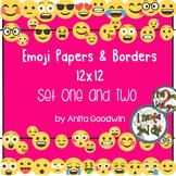 Emoji Paper and Borders 12 x 12 - Bundle Set 1 and 2