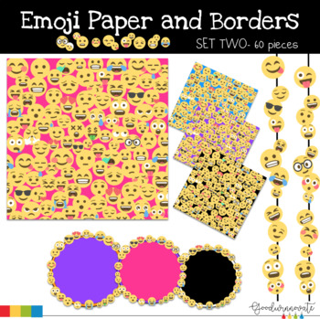 Emoji Paper and Borders 12 x 12 - Set 2