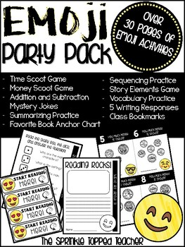 Emoji Party Pack - Math and Reading Centers for the Entire Day!