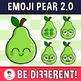 Emoji Pear Faces Clipart (2.0)