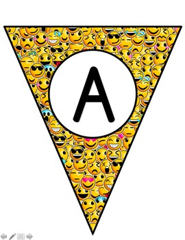 Emoji Pennant Set - Classroom Decor: EDITABLE