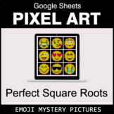 Emoji: Perfect Square Roots - Google Sheets Pixel Art