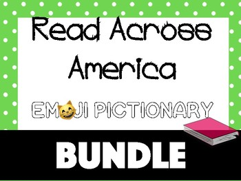 Read Across America Emoji Pictionary Guessing Game {BUNDLE}