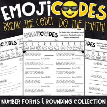 Place Value and Rounding Practice | Break the Emoji Code