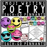Emoji Poetry Writing Teach- Go Pennants™ Elements of Poetry Emoji Theme