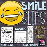 Emoji Positive Notes to Students | SMILE SLIPS | Endless Bundle