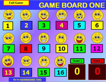 Emoji Powerpoint / Smartboard Game Template