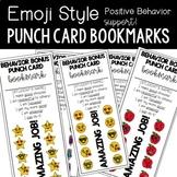 Emoji Punch Card Bookmarks for Positive Behavior Support (Editable)