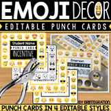 Emoji Punch Cards - Editable & Digital Version Included
