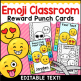 Emoji Punch Cards Editable Classroom Decor