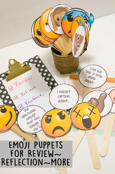 Emoji Puppets with Stems for Discussions, Review, and Reflection