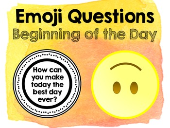 Emoji Questions - Beginning of the Day