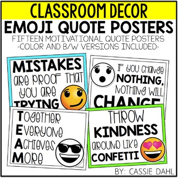 Emoji Quote Posters