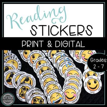 Emoji Reading Badges: Reading Challenge