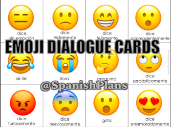 Emoji Reading Cards for Spanish
