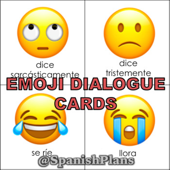 Emoji Reading Cards for Spanish