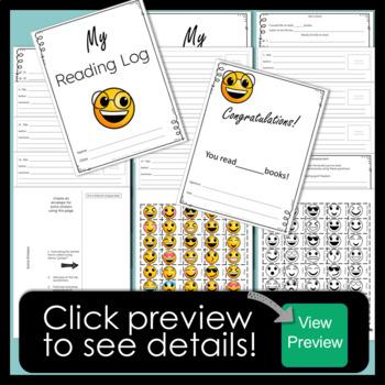 Emoji Reading Log for Independent Reading Challenge