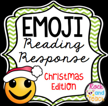 Emoji Reading Response Homework ~ Christmas Edition