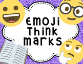 Emoji While You're Reading Think Marks Bookmarks