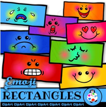 Emoji Rectangles - Clip Art Polygon Math Shapes