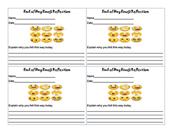 Emoji Reflection Card