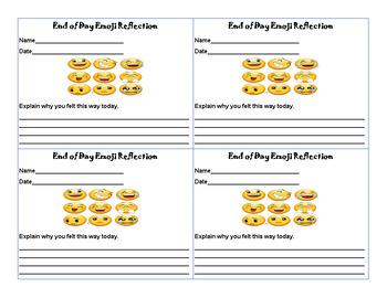 Emoji Reflection Card