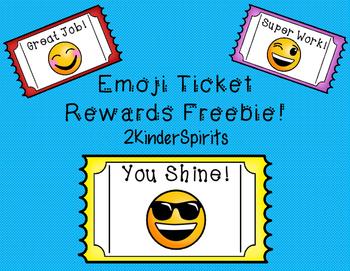 Emoji Reward Tickets Freebie!