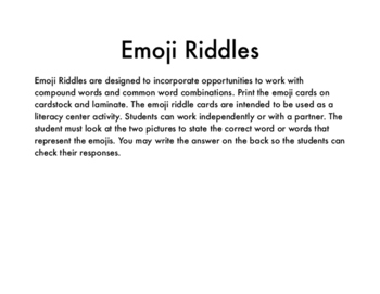 Emoji Riddles Center