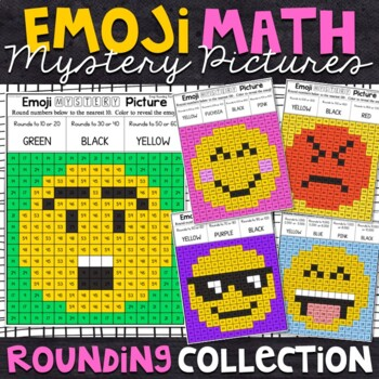 Emoji Rounding Mystery Pictures