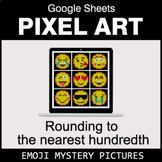 Emoji: Rounding to the nearest 100th - Google Sheets Pixel Art
