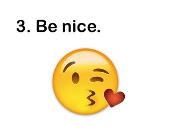 Emoji Rules and Self-Assessment Charts