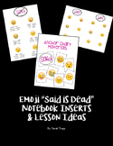 "Emoji ""Said is Dead"" Printables and Lesson Ideas"