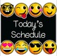 Emoji Schedule Card Set - Classroom Decor: EDITABLE