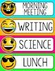 Emoji Schedule Cards