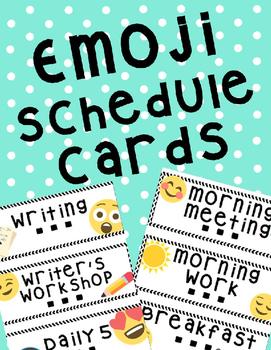 Emoji Schedule Cards Editable
