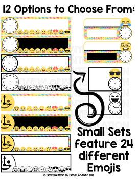 Emoji Editable Schedule Cards