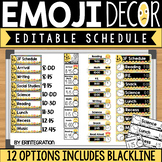 Emoji Editable Schedule Cards