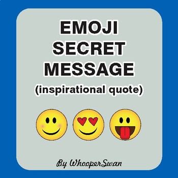 Emoji Hidden Message Puzzle