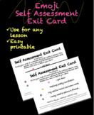 Emoji Self Assessment Exit Cards