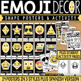 Emoji Shape Posters - English and Spanish