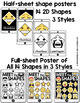 Emoji Shape Posters