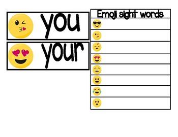 Emoji Sight Word Hunting Game