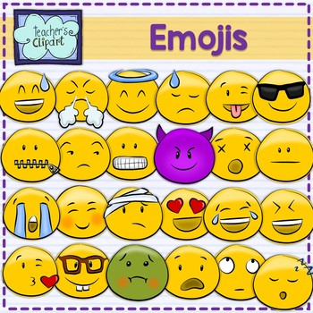 Emoji Smiley Faces Emoticons Clip art [BUNDLE]
